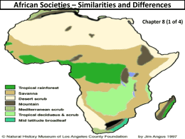 African Societies Similarities and Differences