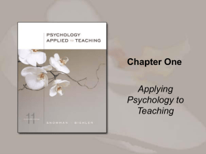Chapter One - Cengage Learning