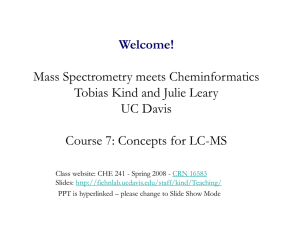 Course 7: LC-MS data handling - Metabolomics Fiehn Lab