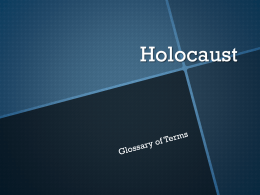 Holocaust - Midway ISD