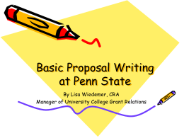 Proposal-Writing 101