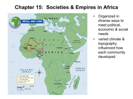Chapter 15: Societies and Empires in Africa