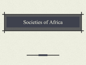Societies of Africa