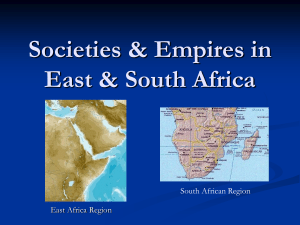 Societies & Empires in East & South Africa