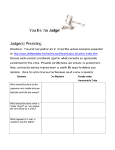 You Be the Judge! Judge(s) Presiding: Directions: You and your