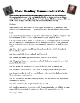 Code of Hammurabi Activity by Chris M | Teachers Pay Teachers
