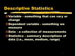 Statistical Methods in Psychology
