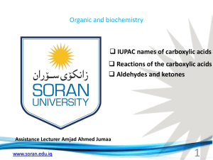 Assistance Lecturer Amjad Ahmed Jumaa IUPAC names of