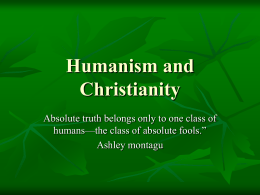 humanism_and_Christianity_PowerPoint_presentation