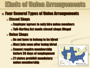Kinds of Union Arrangements
