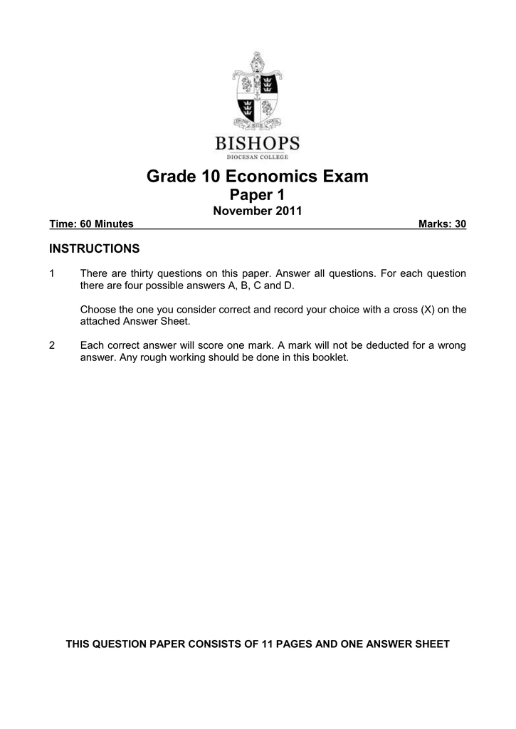 Grade 10 Exam Papers
