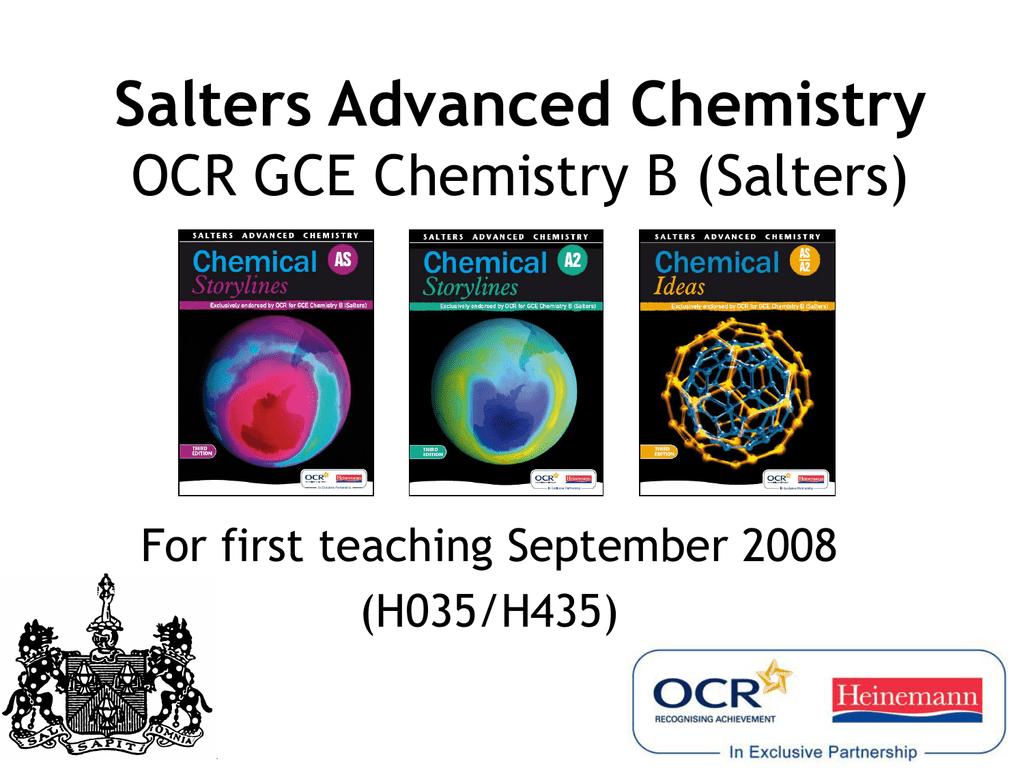salters chemistry a2 coursework mark scheme