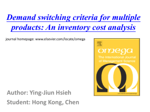 Demand switching criteria for multiple products: An inventory cost