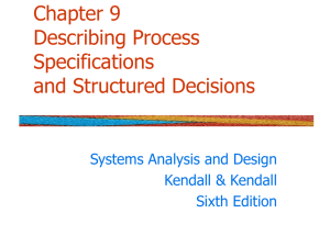 Chapter 11 Describing Process Specifications and Structured