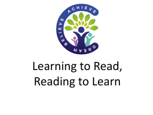 Learning to Read, Reading to Learn