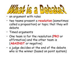 spontaneous argumentation topics