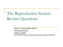 The Reproductive System Review Questions