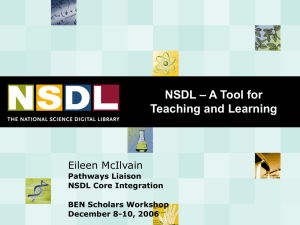 NSDL: A Tool for Teaching and Learning