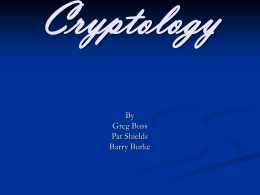 Cryptology - Computer Science