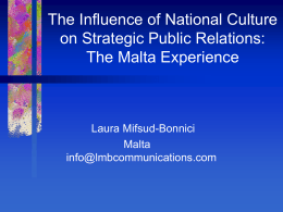 The Influence of National Culture in Strategic Public Relations: The