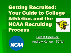 Your Guide to College Athletics and the NCAA Recruiting Process
