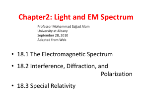PPT: Light and Elecromagnetic Spectrum