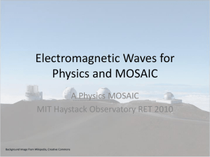 Unit 6 Electromagnetic Waves