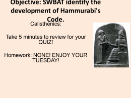 hammurabis code you be the judge essay Babylonia at the time of hammurabi essay sample  however there are judge who are appointed to ensure that those who are accused of breaking the  hammurabis code.