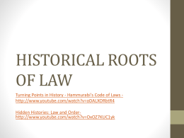 historical roots of law
