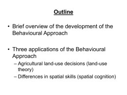 Johnston - Behavioural Geography II