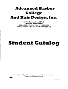 School Catalog - Advanced Barber College