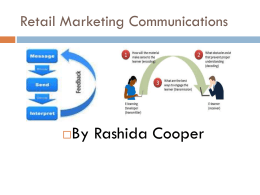 Introduction Retail Communication Mix