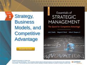Essentials of Strategic Management 4e