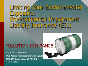 Limiting Your Environmental Exposure. Environmental Impairment