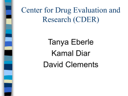 Center for Drug Evaluation and Research (CDER)