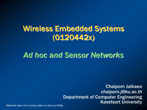 Ad hoc and Sensor Networks - Department of Computer Engineering