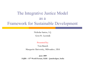 The Integrative Justice Model as a Framework