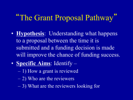 The Grants Pathway at NIH - University of Texas Health Science