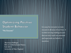 Optimizing Positive Student Behavior