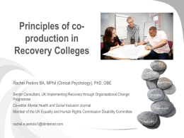 Presentation 1.45 – 3.15 Principles of co