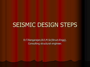 seismic design steps - STRUCTURAL ENGINEERING FORUM OF INDIA