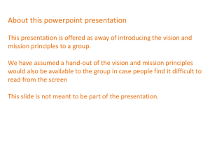 Vision and mission powerpoint presentation