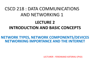 CSCD 218 : DATA COMMUNICATIONS AND NETWORKING 1