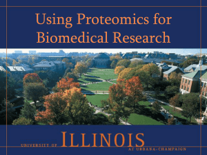 Applying Proteomics in Biomedical Research