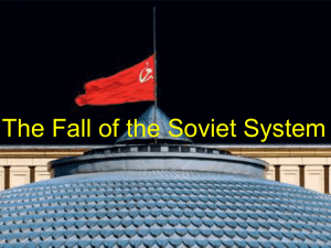 The Fall of the Soviet System
