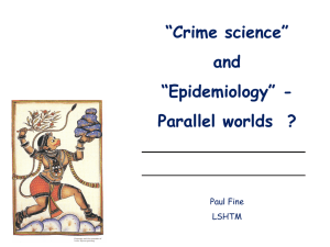 Slide download: Crime science and epidemiology UCL SECReT
