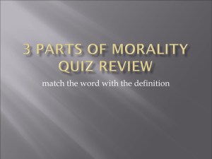 3 Parts of Morality quiz review