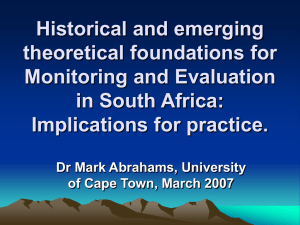 Historical and emerging theoretical foundations for Monitoring and
