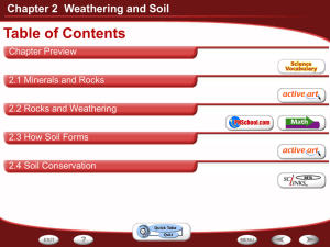 Chapter 2 Weathering and Soil