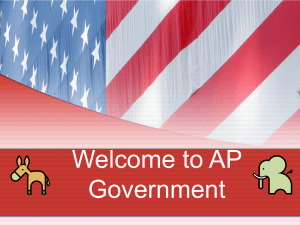 Welcome to AP Government